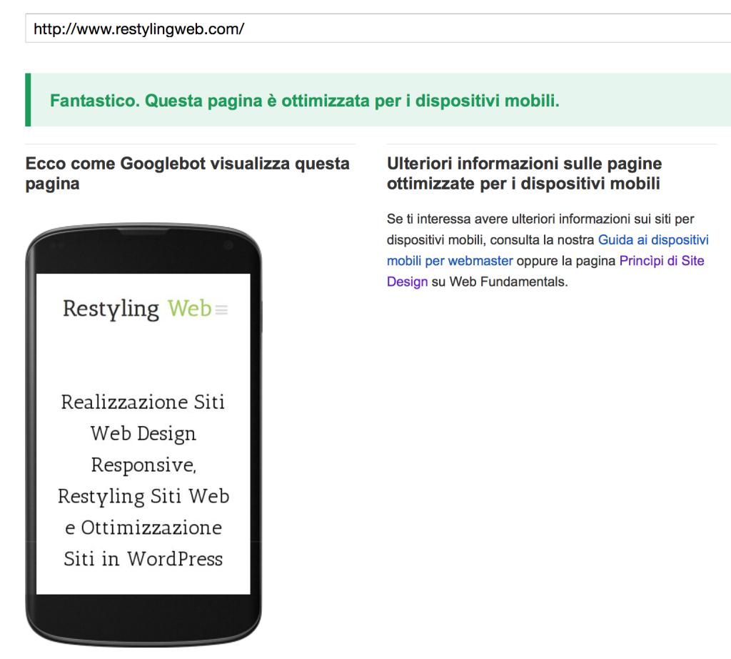 Ricerca Per Immagini Mobile siti web mobile-friendly premiati da google